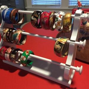 Large Wall Mounted Hanging Bracelet Holder Storage Display Oak Etsy