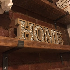 Shelf Brackets, Industrial Shelf Bracket, Kitchen, Farmhouse Decor,  Designs2Create