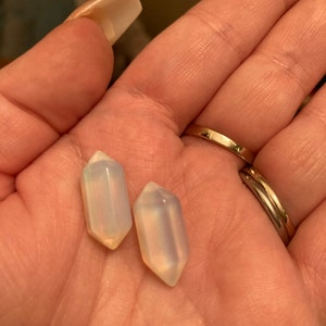 Opalite Small Double Terminated Carved Point M5 photo
