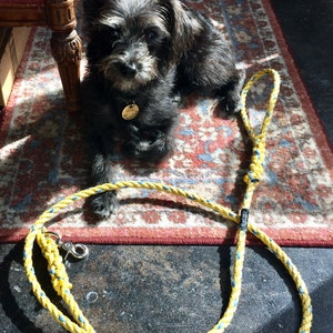 3/' Rope horse lead Upcycled blue nylon blend rope nautical lead Maine made by WharfWarp horse gift