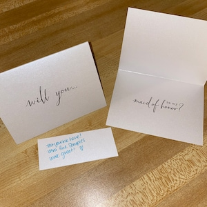 Cute Will You Be My Bridesmaid Cards - Will You Be My Matron of Honor, Maid of Honor, Flower Girl, Bridesmaid, Bridesman Proposal Card photo
