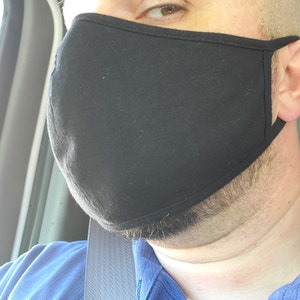 Cotton Face Mask for Men Women | Double Layer Cloth Face Cover | Washable Reusable Made In USA photo