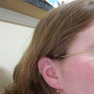 Front Back Earrings • ear jacket • dainty ear jacket • gold earrings • ear jacket earrings - minimal earring • cz ear jacket • ear jacket photo