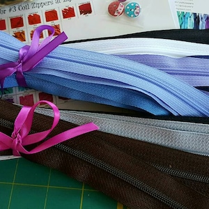 YKK ZIPPERS Your Choice of 25 YKK Brand 14 Inch Zippers-Mix and Match-Choose from 65 colors- Quality zippers! photo