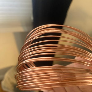 Bare Copper Artistic Wire - Solid Metal - You Pick Gauge 10, 12, 14, 16, 18, 20, 22, 24, 26, 28, 30, 32, 34 – 100% Guarantee photo