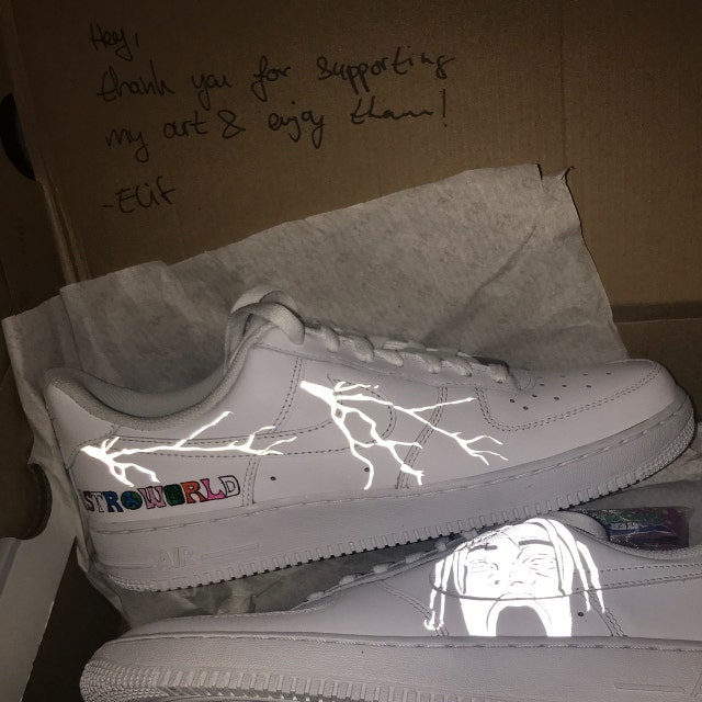 Reflektierende Blitz Custom Nike Air Force 1 Schuh (NEU) Trending Now