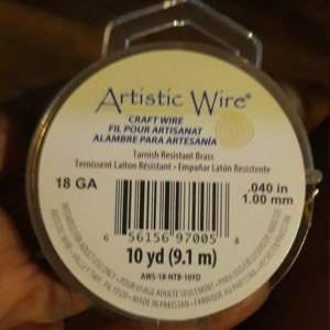Non Tarnish Brass Artistic Wire - Permanently Colored - You Pick Gauge 10, 12, 14, 16, 18, 20, 22, 24, 26, 28, 30, 32, 34 – 100% Guarantee photo