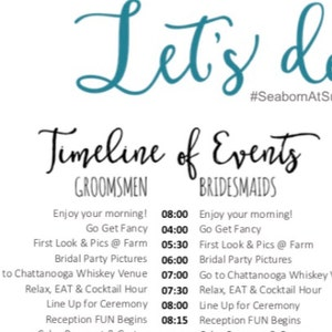 This is really happening Editable Burgundy Wedding Timeline Oh Shit - Edit in Word Day of Wedding Schedule