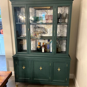 Portfolio Listing *** SOLD PIECES China Cabinet Farmhouse China Cabinet  Wine Bar Cabinet Hutch Coffee Armoire Mid Century China Cabinet