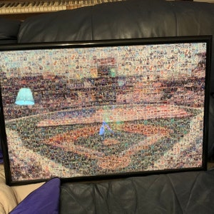 Buffalo Bills Mosaic Art Print of New Era Field made of 262 Unique Player Card Images A Unique Gift in Canvas or Print!
