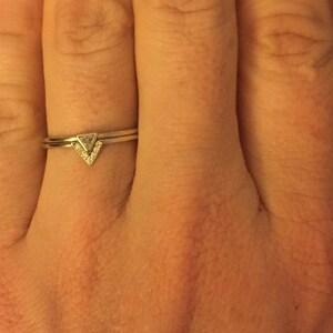 Diamond Ring Gold Wedding Set Mother Of Pearl Amp Diamond Etsy