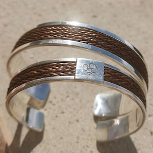 Woven solid silver jonc