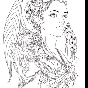Fira & Drake Fairy Tangles Printable Coloring Book Pages