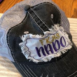 Any team Any color! Custom team name hats, football, soccer, baseball,  softball, basketball mom hats, custom baseball hats, frayed patch cap