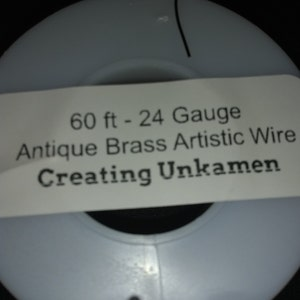 Antique Brass Artistic Wire - Permanently Colored - You Pick Gauge 10, 12, 14, 16, 18, 20, 22, 24, 26, 28 – 100% Guarantee photo