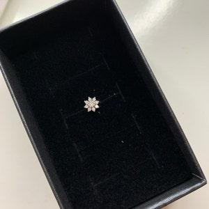 Flower Cartilage Gold Hoop Earrings • tragus earrings • tiny hoop earrings • rose gold cartilage hoop• helix hoop • small hoop earrings photo