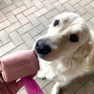 Dog poop bag holder, Dog waste bag holder, Leather Dog poop bag dispenser, Dog waste bag dispenser, photo