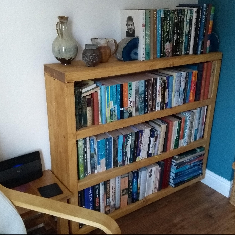 Home Garden Store Bookcases Dark Oak 127cm High Solid