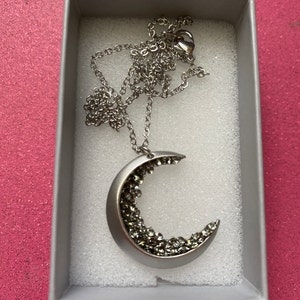 Crescent Moon Necklace Jewelry Celestial Jewelry Gift Holiday Necklace Jewelry Moon Best Friends Necklace Mothers Day Gifts -ZCMN photo