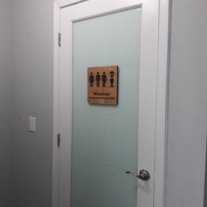 All Gender Restroom Sign Whatever Just Wash Your Hands Etsy