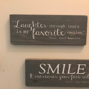 Laughter Through Tears Is My Favorite Emotion Wooden Sign Etsy