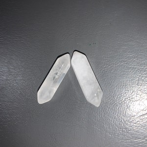 Clear Quartz Double Terminated Carved Point J78 photo