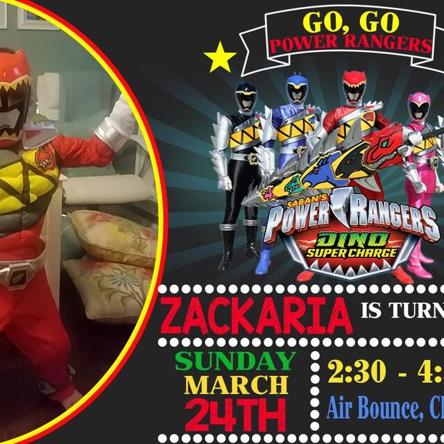 Power Rangers Dino Charge Power Rangers Invitación De Cumpleaños Power Rangers Cumpleaños Fiesta Invitación Power Rangers Cumpleaños Power Rangers