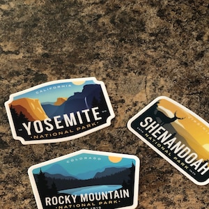 Pick 6 - National Park Stickers