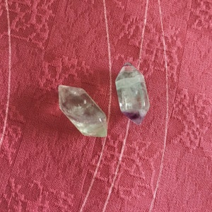 Fluorite Small Double Terminated Carved Point M2 photo
