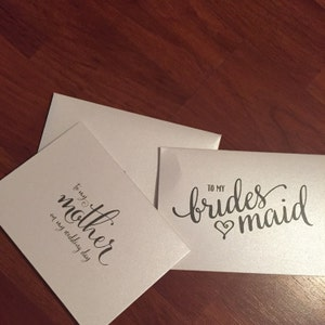 To My Bridesmaid, Matron of Honor, Wedding Party Wedding Thank You Cards Thank You Bridesman Card, Man of Honor, Flower Girl (Set of 5) CS15 photo