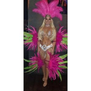 Rex flower Samba Costume feather Piece Feather Fantasy Fest Carnival Showgirl Set WFF
