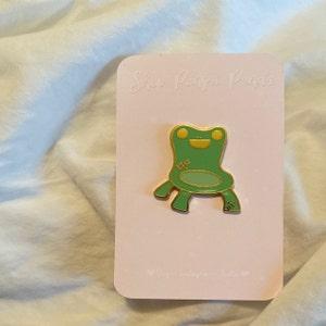 Froggy Chair Hard Enamel Pin Etsy