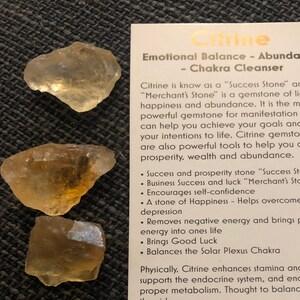 """Raw Citrine Crystal (Heat Treated) - ~0.5"""" - Citrine Stone - Raw Citrine stone - Healing crystals and stones - citrine stone treated photo"""