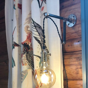 Pipe 5 Light Bulb Vintage Edison Industrial Lighting Wall