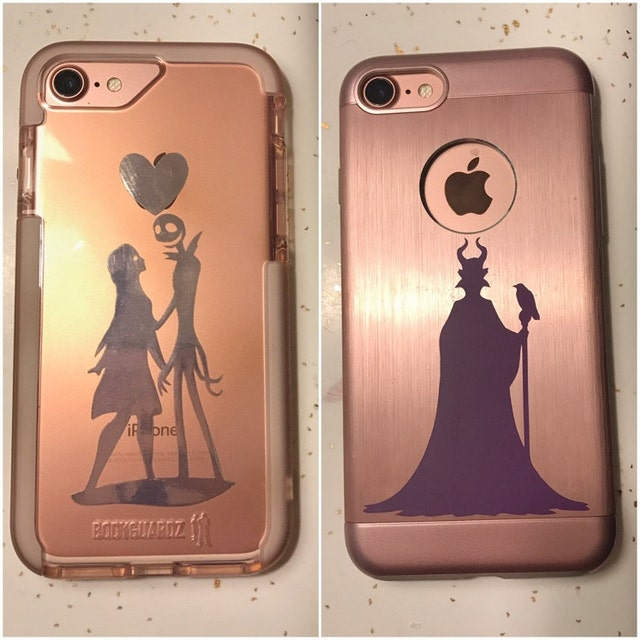 jack and sally phone sticker