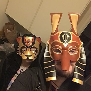 Ra V.2 Leather Mask Made to Order Egyptian God of the Sun