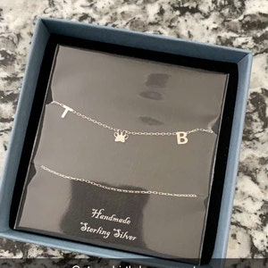 Personalized Name Necklace - Initial Necklace - Letter Necklace - Custom Necklace - Wife Gifts - Gifts For Mom - Moms Gift - Birthday Gift photo