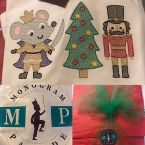 Nutcracker Monogram Shirt Or Bodysuit Christmas Tree Nutcracker Mouse King Monogram Nutcracker