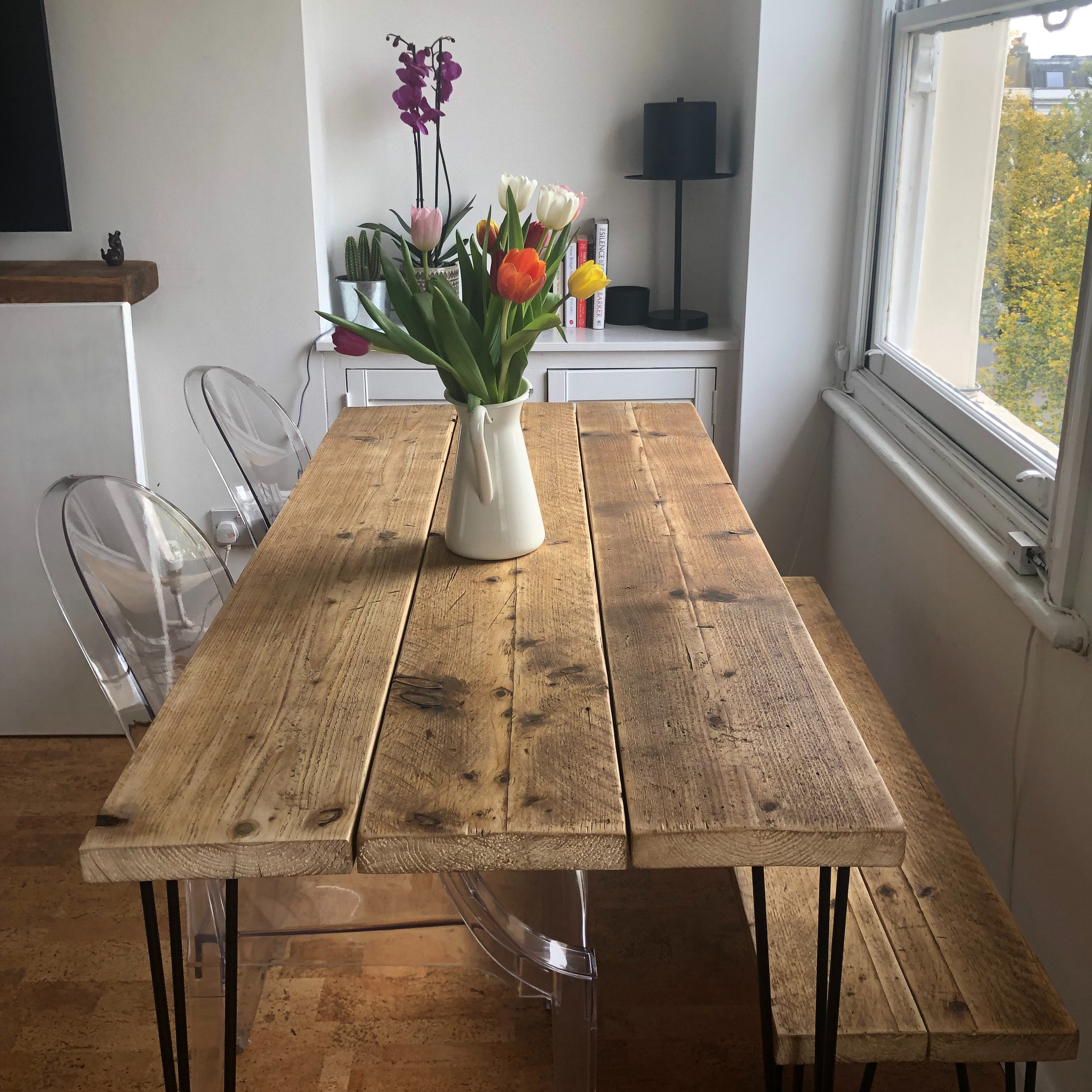 Wondrous Scaffolding Board Desk Reclaimed Desk With Hairpin Legs With Vintage Steel Drawers Andrewgaddart Wooden Chair Designs For Living Room Andrewgaddartcom