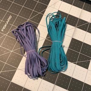 Skinny Elastic, Elastic Cord for Mask, 10 YARDS, 1/8 inch Skinny Elastic, Thin Elastic photo