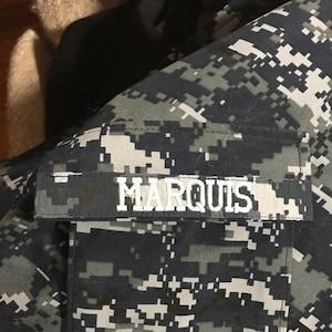 Military Name Tape or Name Patch, Army ACU or Ocp, Marine Woodland or  Marine Marpat, Navy NWU, Air Force ABU, Mulitcam Custom Name Tapes