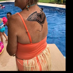 e6b84ed6b Moana's Gramma Tala Stingray Back Temporary Tattoo in | Etsy