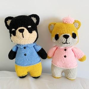 Crochet shiba inu CROCHET PATTERN AMIGURUMI: Aki the shiba EnglishFran\u00e7aisEspanolTieng Viet