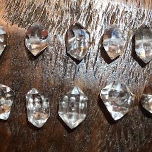 5-100 pcs / Medium 8-10 mm Herkimer Diamonds Nuggets Crystals Quartz Briolette Beads / april birthstone healing chakra gemstones  m photo
