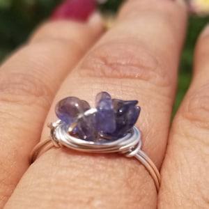 Natural Iolite Chip Beads Strand, Semi Precious, Gemstone Chips, Gemstone Beads, Jewelry Making Supply, GemMartUSA (CHIO-70001) photo