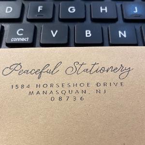 RETURN ADDRESS STAMP, Custom Return Address Stamp, Self Ink Return Address Stamp, Custom Stamp Address, Self Inking Stamp, Custom Self Ink photo