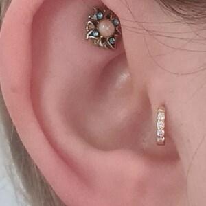 Tiny Cartilage Hoop Earrings • tragus earrings • tiny hoop earrings • cartilage hoop earrings • helix hoop • small hoop earring photo