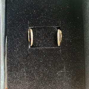 Hoop Stud Earrings • hook stud earrings • hook hoop earrings • dainty earrings • minimalist earring • post earrings • sleeper studs photo