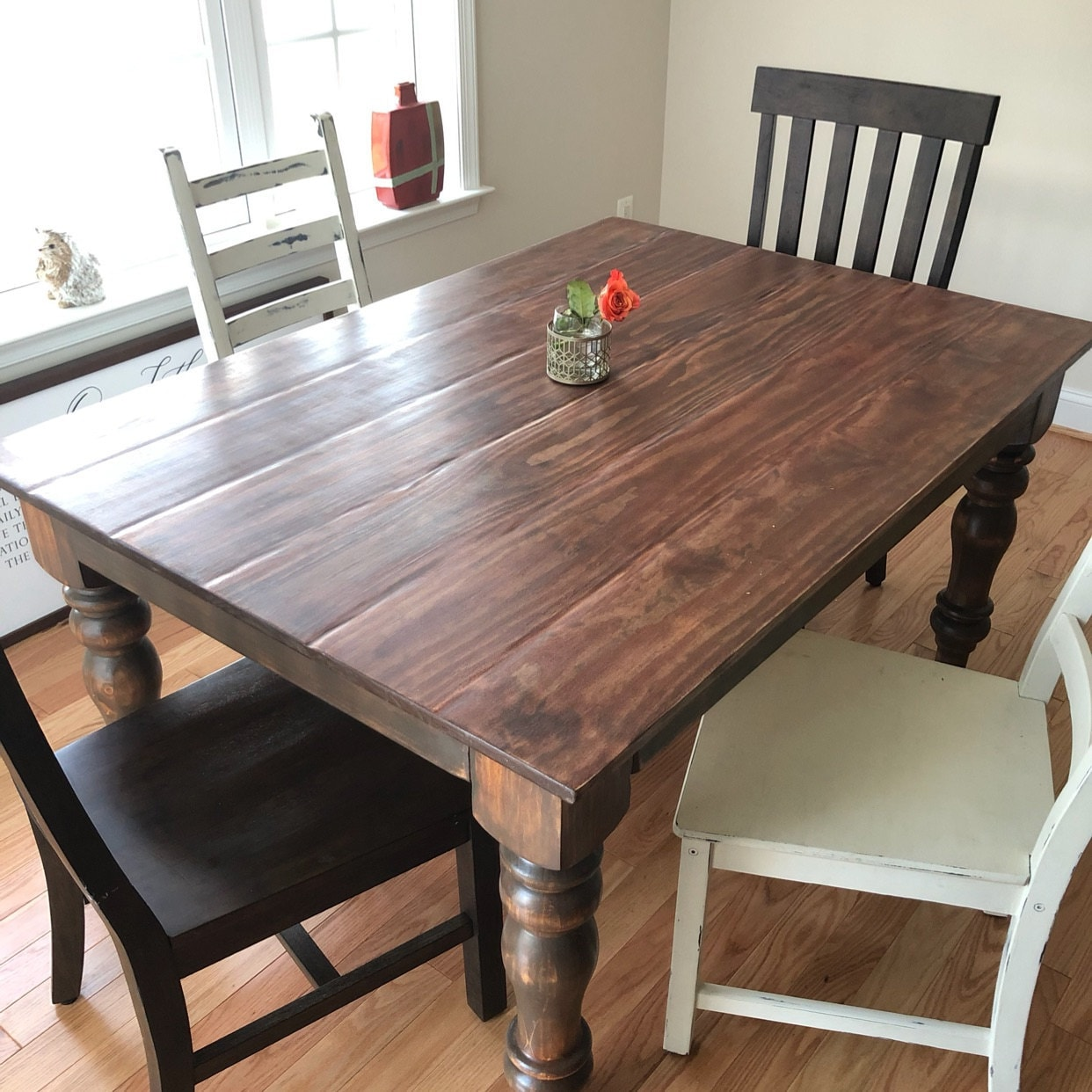 Unfinished PINE Chunky Farmhouse Table Legs, Set of 4