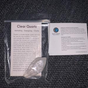 Clear Quartz Crystal Point - Grade AB quartz - Raw Quartz point crystal - crystal quartz - genuine brazilian quartz - Quartz Crystal Point photo